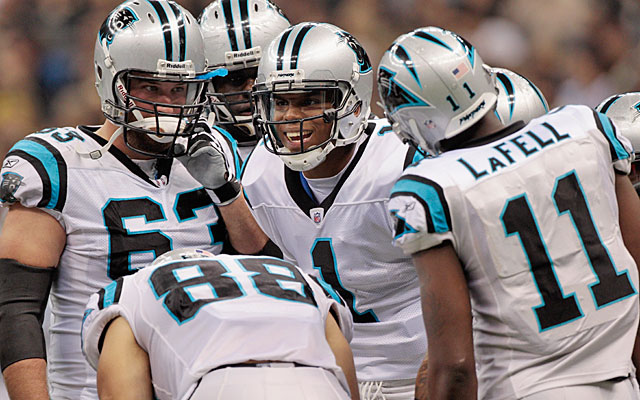 Cam Newton's presence in the huddle pushes the Panthers into the top five on this list. (Getty Images)