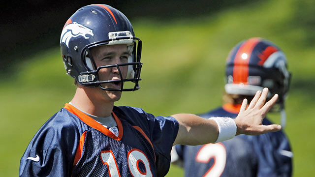 Peyton understands he isn't where he needs to be just yet after a long hiatus. 'I still have work to do.' (AP)