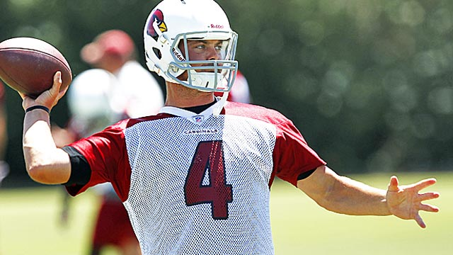 Kevin Kolb can't be termed a bust yet, but his first season as a Cardinal was shaky at best. (AP)