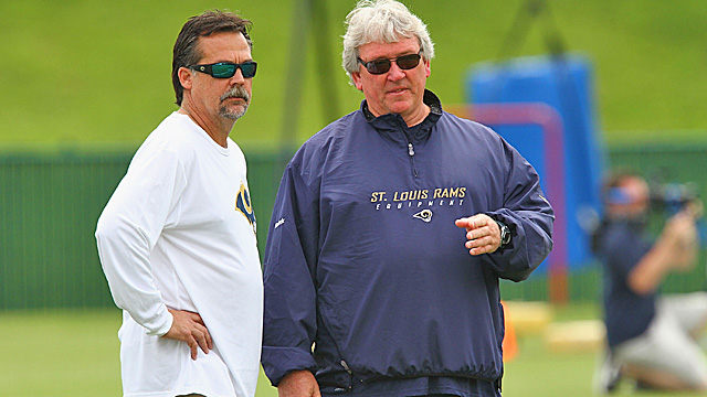 Jeff Fisher and assistant Dave McGinnis have both been defensive coordinators before. (Getty Images)