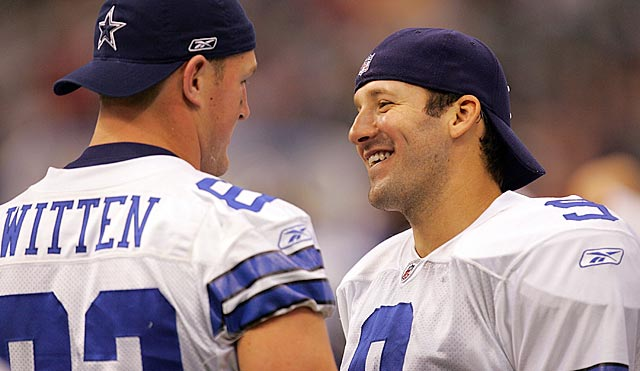 Maybe Witten is trying to encourage Romo. He also might have put more pressure on him. (Getty Images)