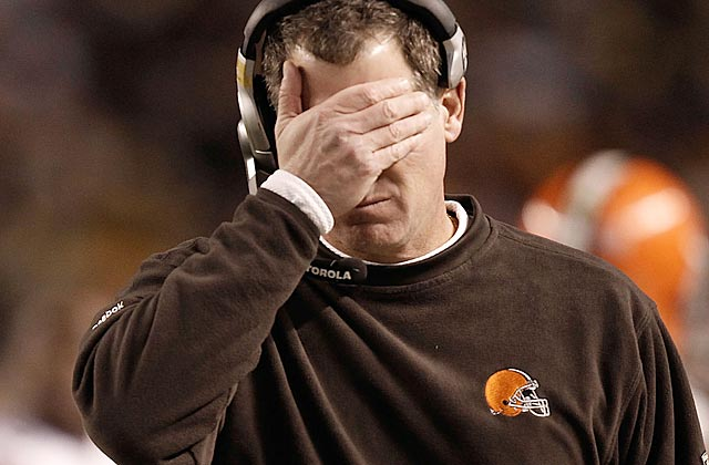 Pat Shurmur must get something out of Cleveland's unwatchable offense, or face the firing line. (Getty Images)