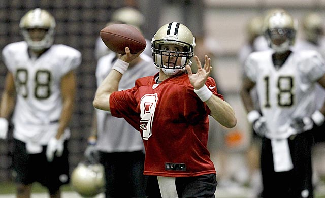 Brees' presence soothes the sting of his contract squabble and Bounty-gate. (US Presswire)
