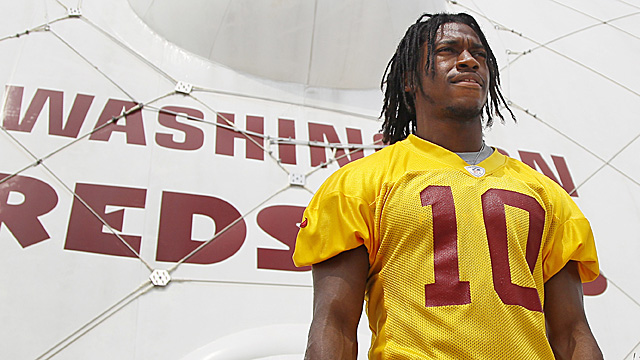 After failing repeatedly to find a franchise QB, the Redskins hope RG3 is the answer. (Getty Images)