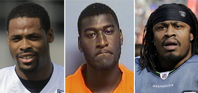 Kenny Britt, Justin Blackmon and Marshawn Lynch are facing charges related to drunk driving. (AP)