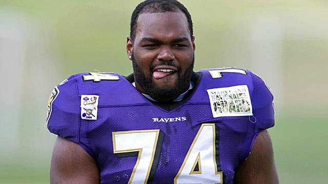 Michael Oher says a move to left tackle would be 'no big deal.' (US Presswire)
