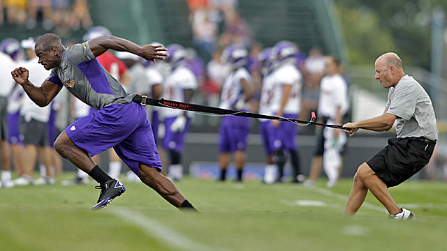 Peterson has been hard to hold back in camp, but ACLs are nothing to mess with. (US Presswire)