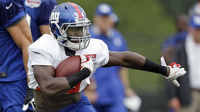 Top pick David Wilson adds speed to the backfield, but is he ready to pick up blitzes? (AP)
