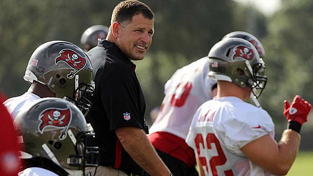 Schiano will need to improve a Bucs team that ranked 30th in total defense last season. (US Presswire)