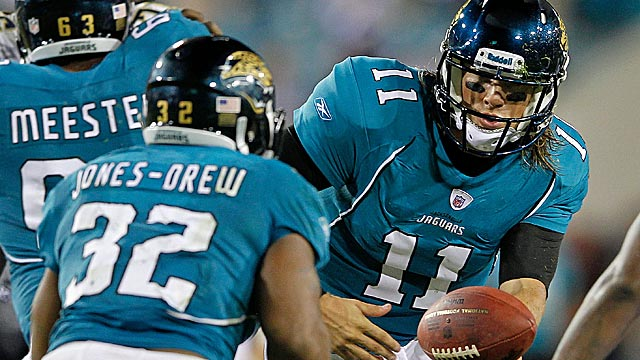 Blaine Gabbert is slotted to be The Man for the Jags, not Maurice-Jones Drew. (Getty Images)