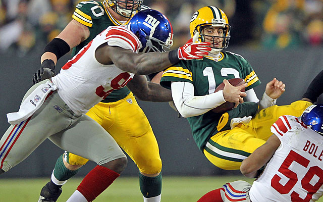 The Giants ended the Packers' Super Bowl title defense with a divisional playoff upset. (Getty Images)