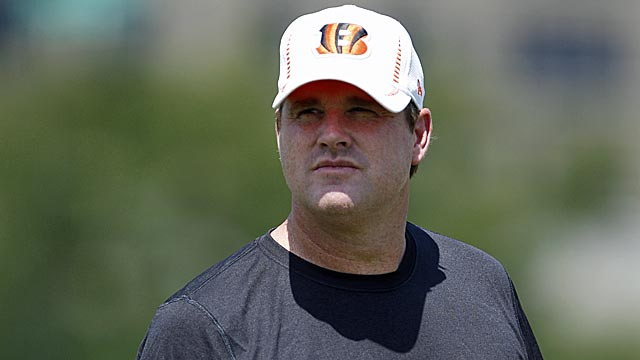 Jay Gruden has a rising profile as a head-coaching candidate but is happy as Bengals OC. (US Presswire)