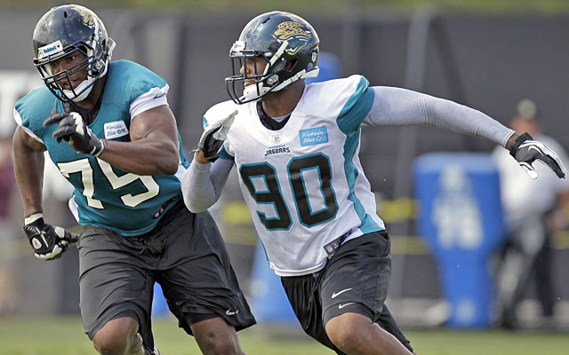 The Jags need Eugene Monroe to help protect the QB; Andre Branch will add push to the pass rush. (AP)