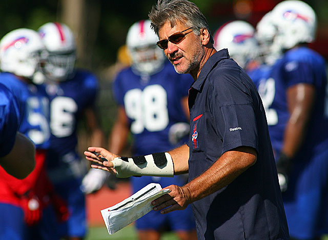 Dave Wannstedt takes over the Bills' D, and his focus is on putting the squeeze on QBs. (Getty Images)