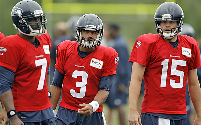 Jackson, Wilson and Flynn are in a three-way tussle to be Seattle's QB. (US Presswire)