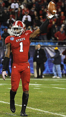 N.C. State's Amerson had a spectacular 13 INTs last season. (US Presswire)