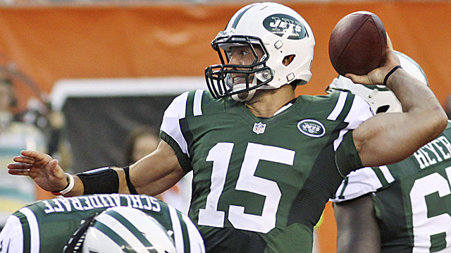 The Jets didn't run any wildcat plays with Tebow in the preseason opener vs. the Bengals. (AP)