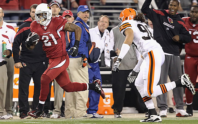 Patrick Peterson scores in overtime against the Cleveland Browns. (Getty Images)