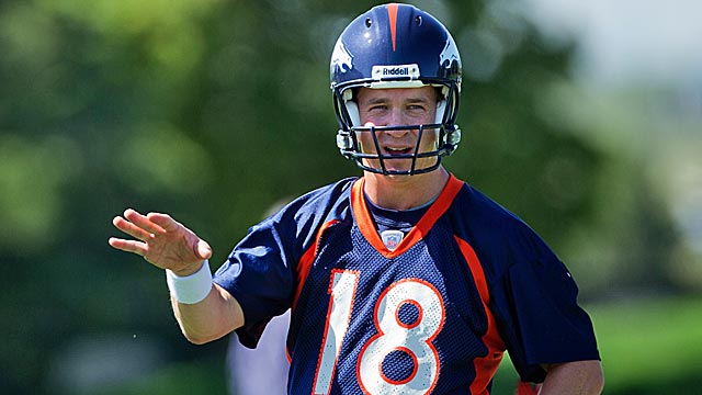 Peyton Manning sets the tone of a perfectionist around the Broncos. (Getty Images)