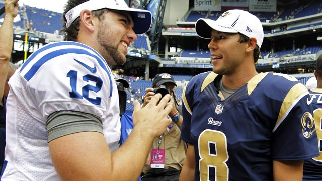 Andrew Luck is to this season what Sam Bradford was to 2010. (AP)