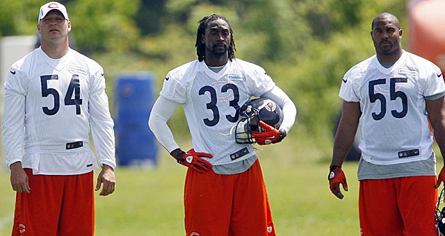 Urlacher, Charles Tillman and Lance Briggs are key parts of a veteran defense. (US Presswire)