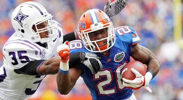 Jeff Demps, who has an Olympic silver medal, was a speedster for the Florida Gators. (US Presswire)