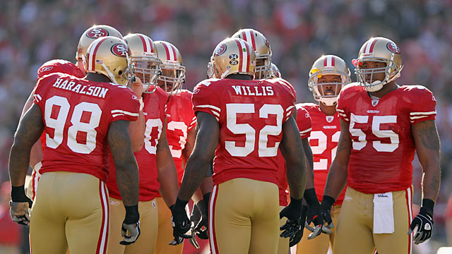 Patrick Willis (52): 'We have to be a great defense. Because good will get you beat.' (Getty Images)