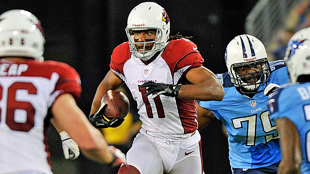 Regardless of the situation, Fitzgerald gives his all for the Cardinals. (Getty Images)