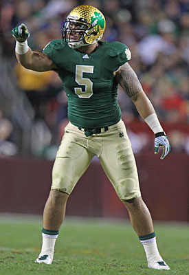 Manti Te'o could be the first ND defender in the first round since 1997. (US Presswire)