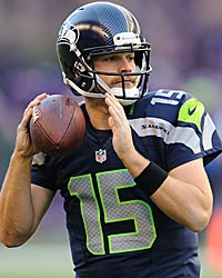 Matt Flynn: A big swing and miss so far for Seattle. (US Presswire)
