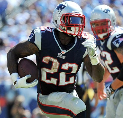 Stevan Ridley comes up big in his debut as the Patriots' top back, rushing for 125 yards and a touchdown.  (US Presswire)