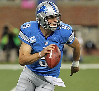 Matt Stafford has a rocky first half but delivers when the Lions need it most.  (Getty Images)