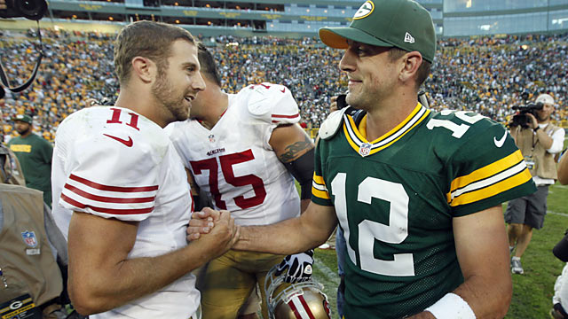 While Alex Smith outduels Aaron Rodgers in Week 1, it's the same Alex Smith we witnessed last season. (AP)