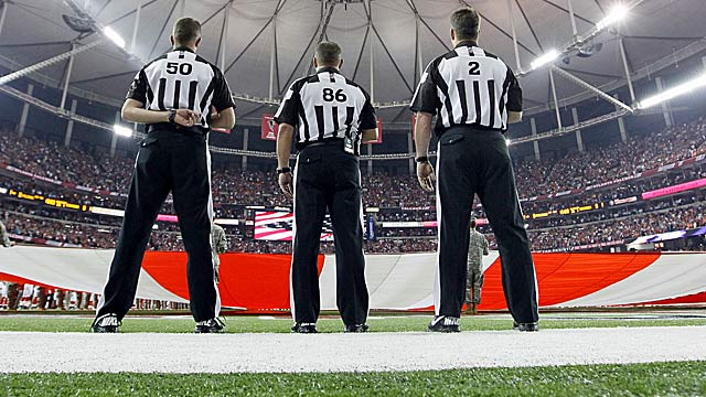 A rough Monday night effort heats things up again for replacement refs and the NFL. (Getty Images)