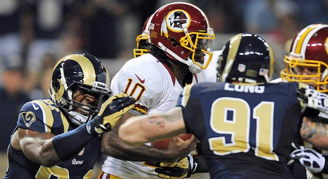 The Rams aren't apologizing for their style of play Sunday against Robert Griffin III. (US Presswire)