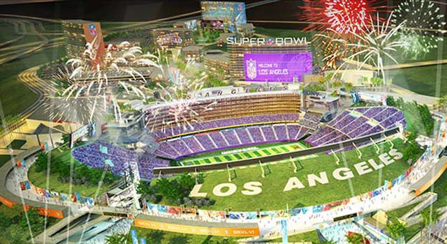The plans for an L.A. stadium are in place, but the city needs a team. (Losangelesfootballstadium.com)