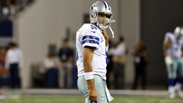 Romo and the Cowboys have a bye week to try and cure their woes before embarking on a tough schedule. (AP)