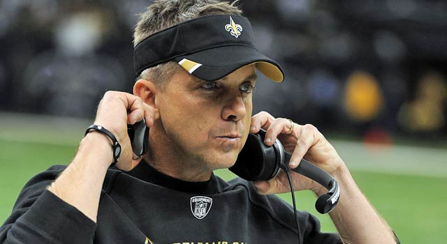 Sean Payton will be in attendance as Drew Brees takes aim at an NFL record on Sunday. (US Presswire)