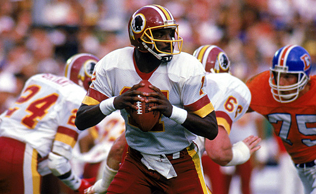 Williams and the Redskins completely dominated the Broncos at Super Bowl XXII. (Getty Images)