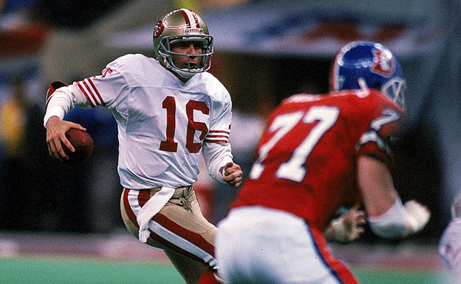 Montana was masterful once again in Super Bowl XXIV. (Getty Images)