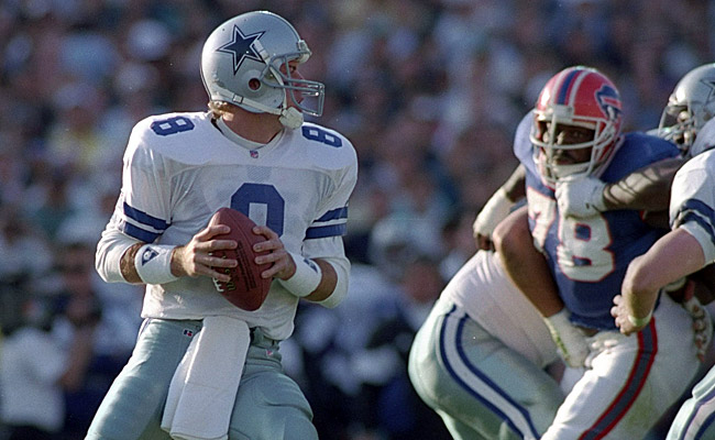 "Aikman led ""America's Team"" back to glory with a blowout win over Buffalo. (Getty Images)"