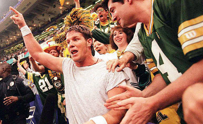 Favre brought the Packers their first Super Bowl win since the Bart Starr era. (Getty Images)