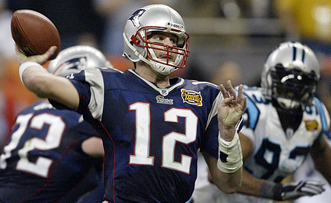Brady led the Patriots on a game-winning drive with 1:08 left on the clock. (Getty Images)