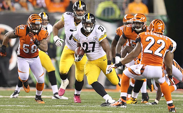 In a divisional home game, Cincinnati lets third-stringer Jonathan Dwyer rush for 122 yards. (Getty Images)
