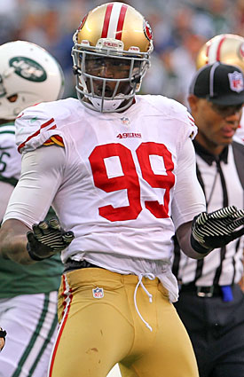 Aldon Smith and the 49ers hope to put the heat on the Cardinals in Arizona. (US Presswire)
