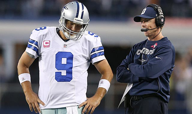Tony Romo's wild fluctuations in play and Jason Garrett's decision-making are killing Dallas. (US Presswire)