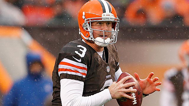 Browns rookie Brandon Weeden is part of a QB class already being rated elite. (US Presswire)