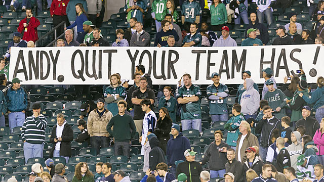 Philly fans are fed up with Andy Reid and the underachieving Eagles. (US Presswire)