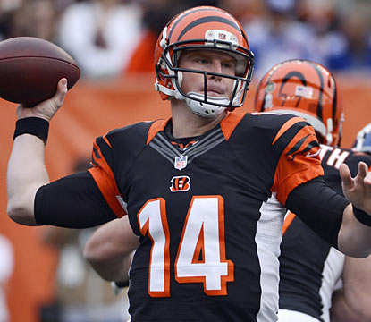 Andy Dalton tosses a career-high four touchdowns to help Cincy end its four-game losing streak. (AP)