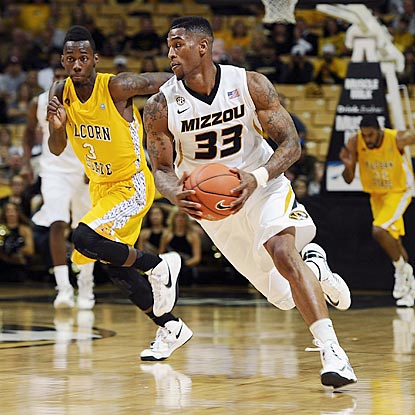 Earnest Ross and Missouri hit their stride in the second half after the Tigers shoot 23.1 percent in the first half.  (US Presswire)